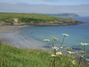 Porthcurnick beach view